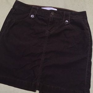 Old Navy brown corduroy mini skirt